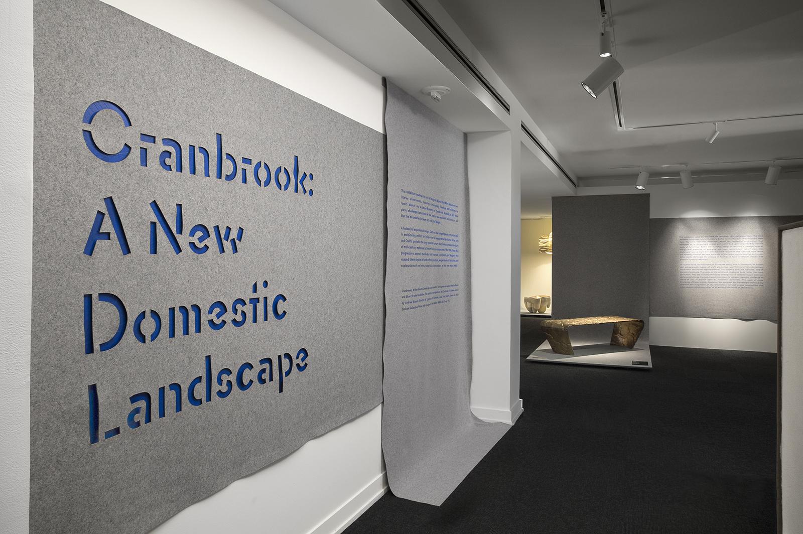 CRANBROOK: A NEW DOMESTIC LANDSCAPE    Cranbrook Art Museum   May 2017 - January 2018   Photo: PD Rearick
