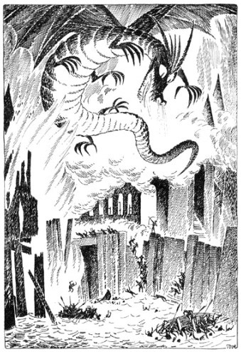 Does this illustrator's style look familiar? Famous in her own right for The    Moomins    series, Tove Jansson also illustrated a Swedish edition of  The Hobbit . Tolkien also   created his own illustrations for  The Hobbit   --take a look!