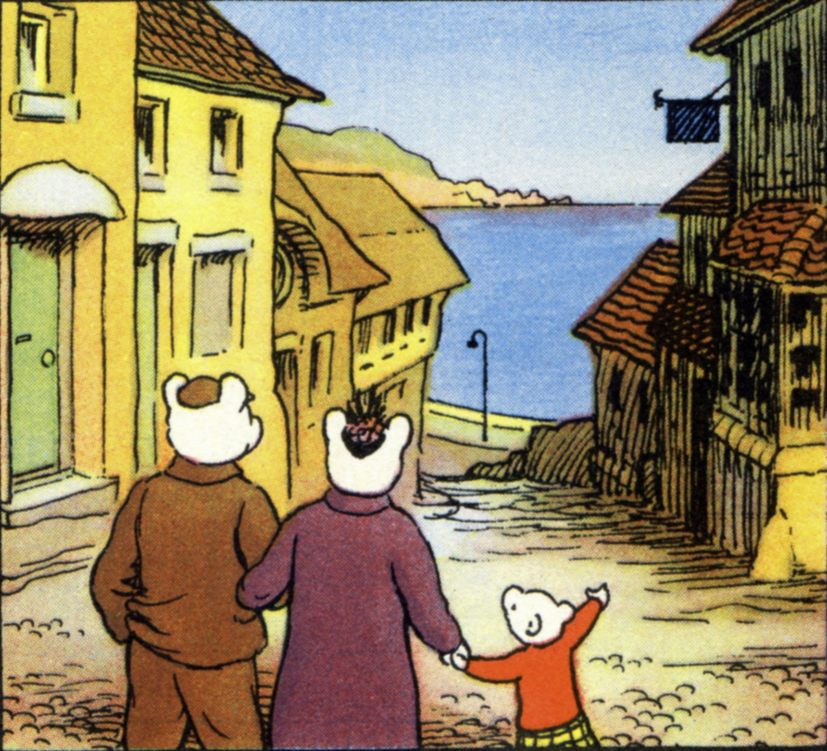Rupert Bear and his family eagerly look forward to their annual beach vacations.