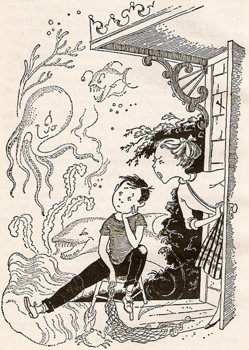 The frustrations of this dreamy child's mother are only too familiar to me, but I still love the illustration from Mrs. PIggle-Wiggle.