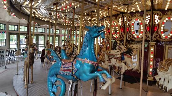 Roger Williams Park , just 5 minutes off I-95 in Providence, Rhode Island, has a vintage carousel, an accessible playground, swan boats, a ride-on train, a snack shack, and a zoo. Seriously, it's like Las Vegas for the under-10 set.