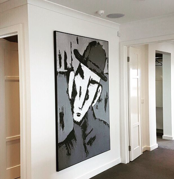 Custom artwork designed for a residential fit out.