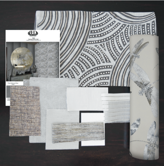 Example of Commercial mood board by Bandhini Homeware Design