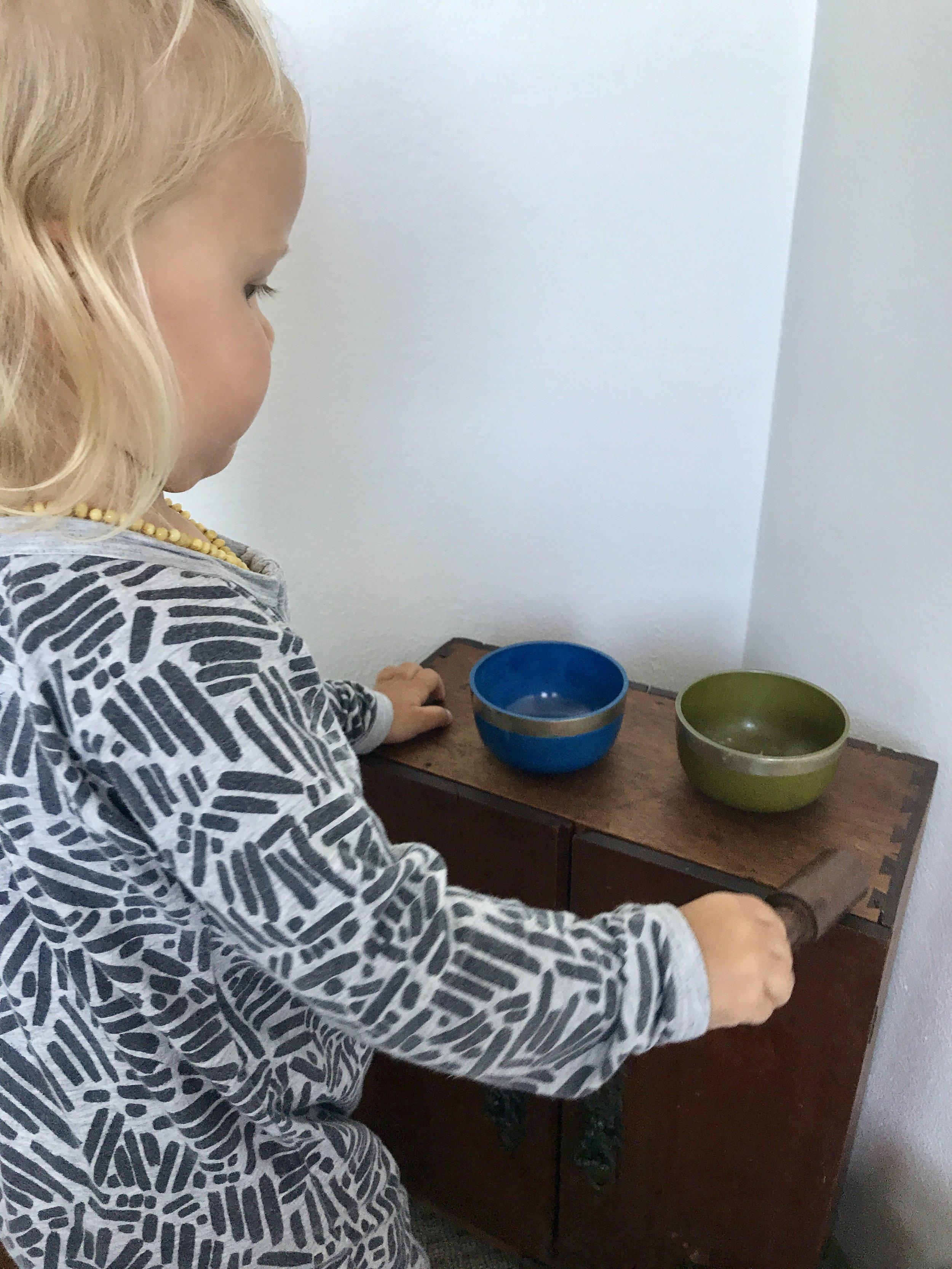 Throat and Solar Plexus Chakra Tibetan Bowls