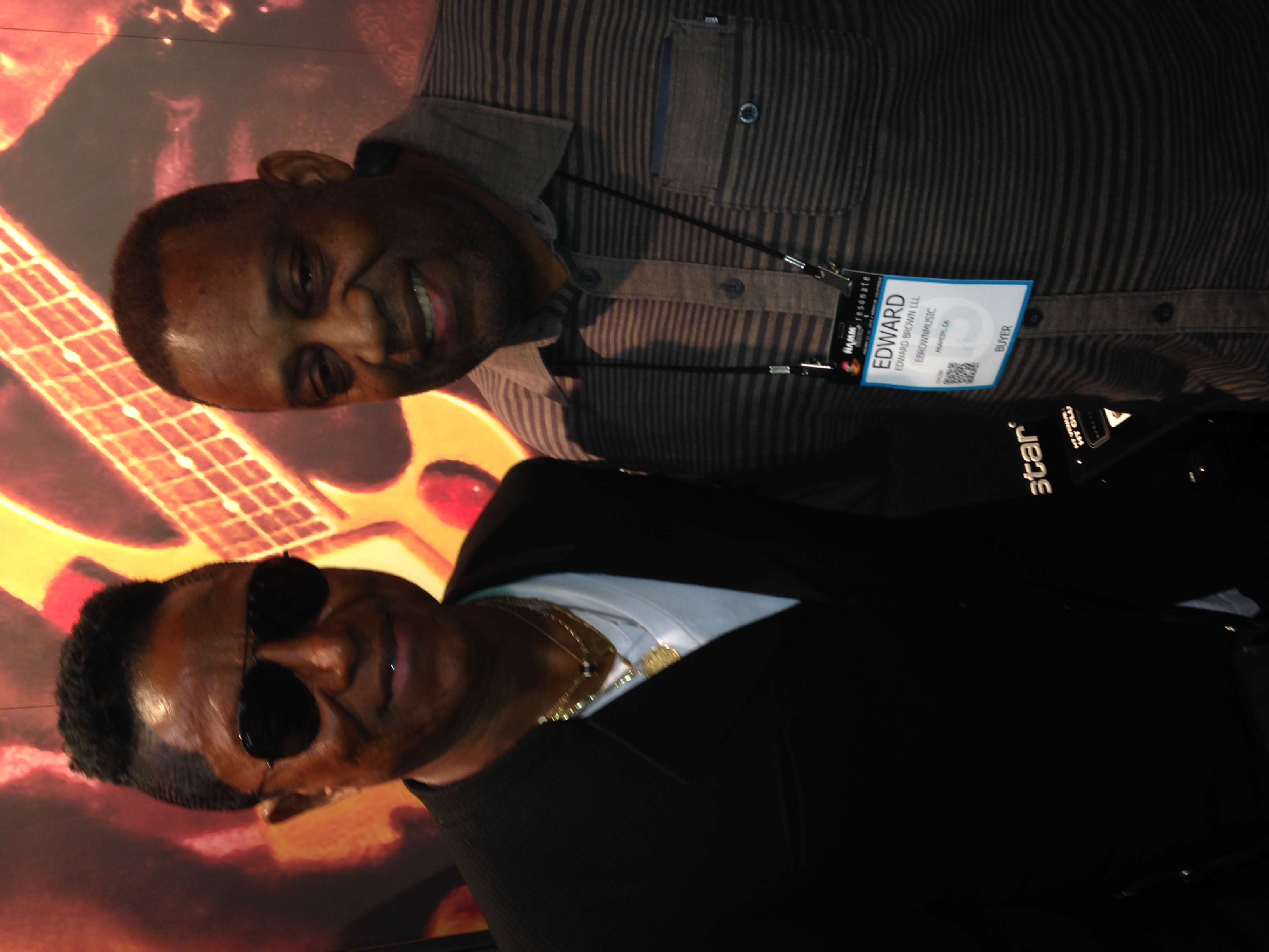 With Jermaine Jackson at Namm