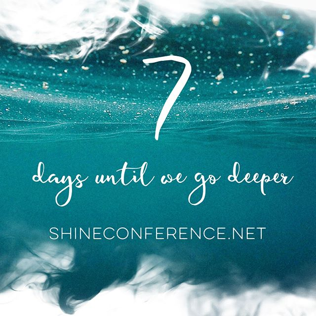 7 days til we go deeper #takemedeeperthaniveeverbeen #imdivingintoyou #rivers #deeper #shineconf18
