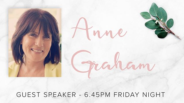 See you tonight for our session with Ps Anne Graham. #deeper #shineconf18