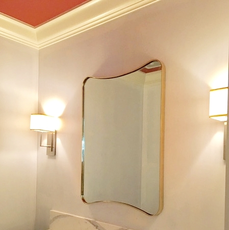 """I also really love this free form mirror we did for a Hillsborough project."" -Taylor"