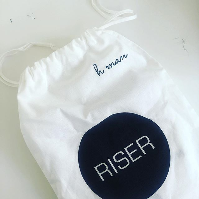 Custom embroidery available online. The perfect present to give to your favourite little human. This little package is ready to be shipped 📮 #madeinmelbourne #organic