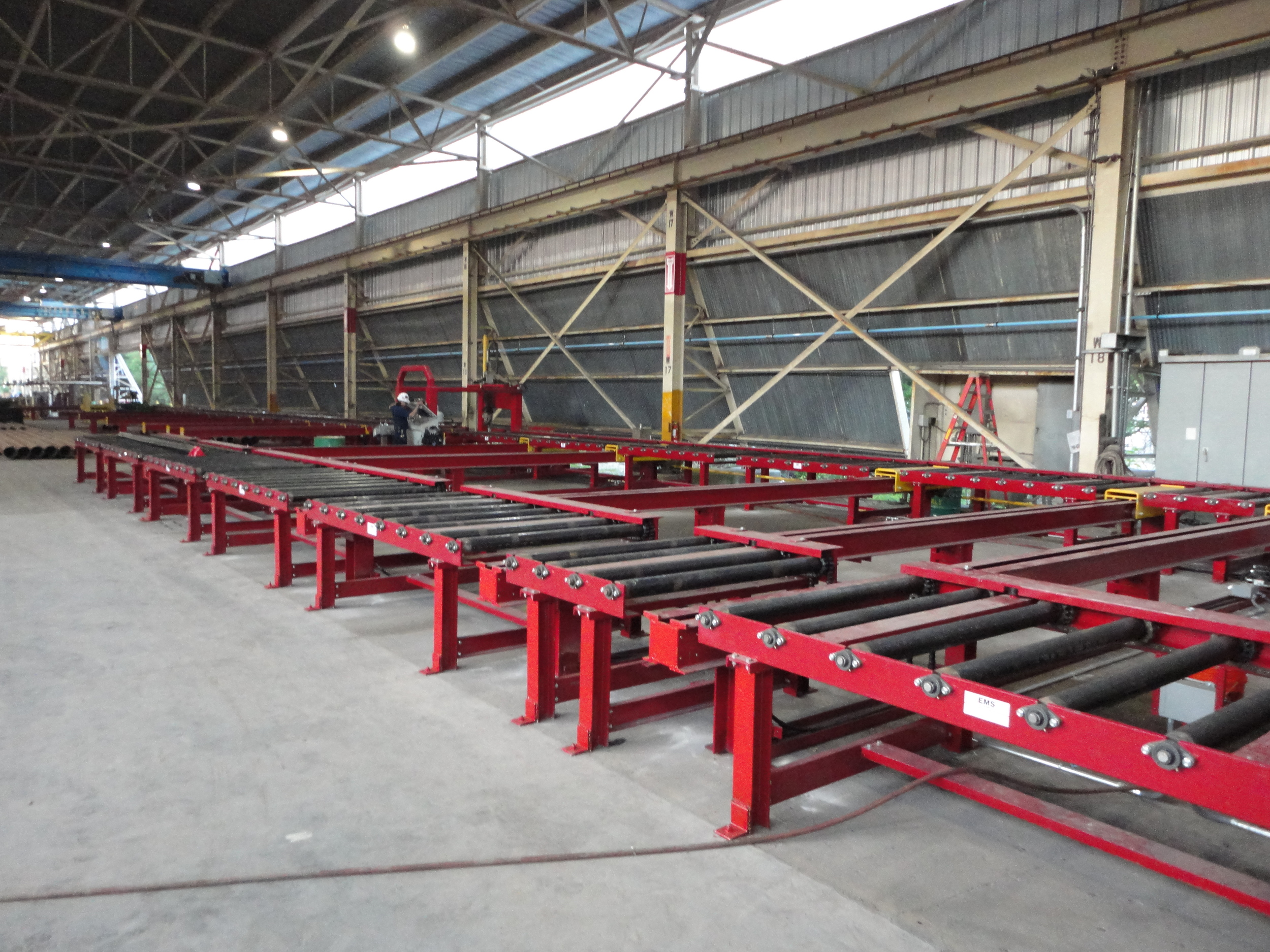 CNC Structural Steel Material Handling System