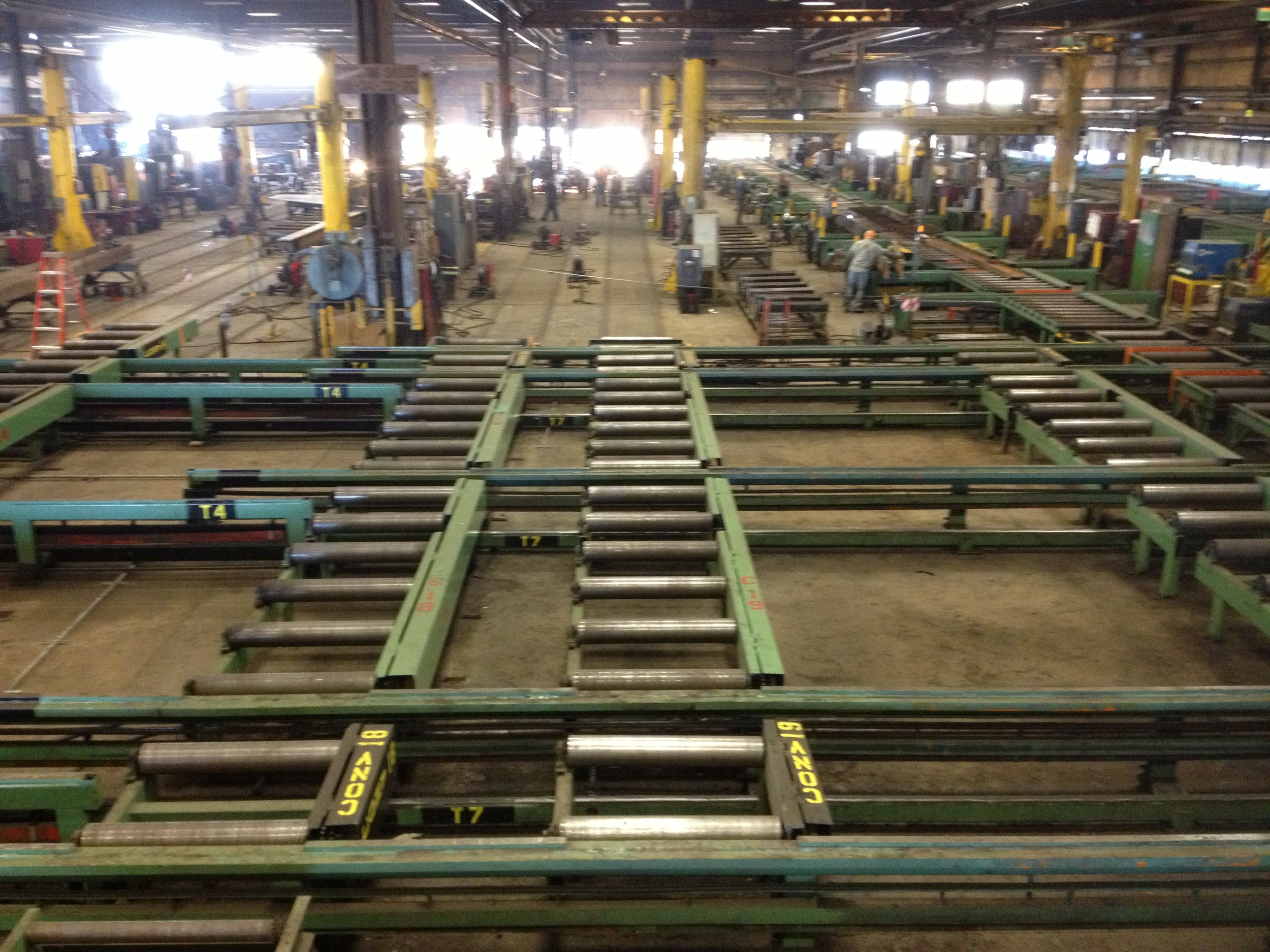 roller conveyors lined up with Rolling Skid track.jpg