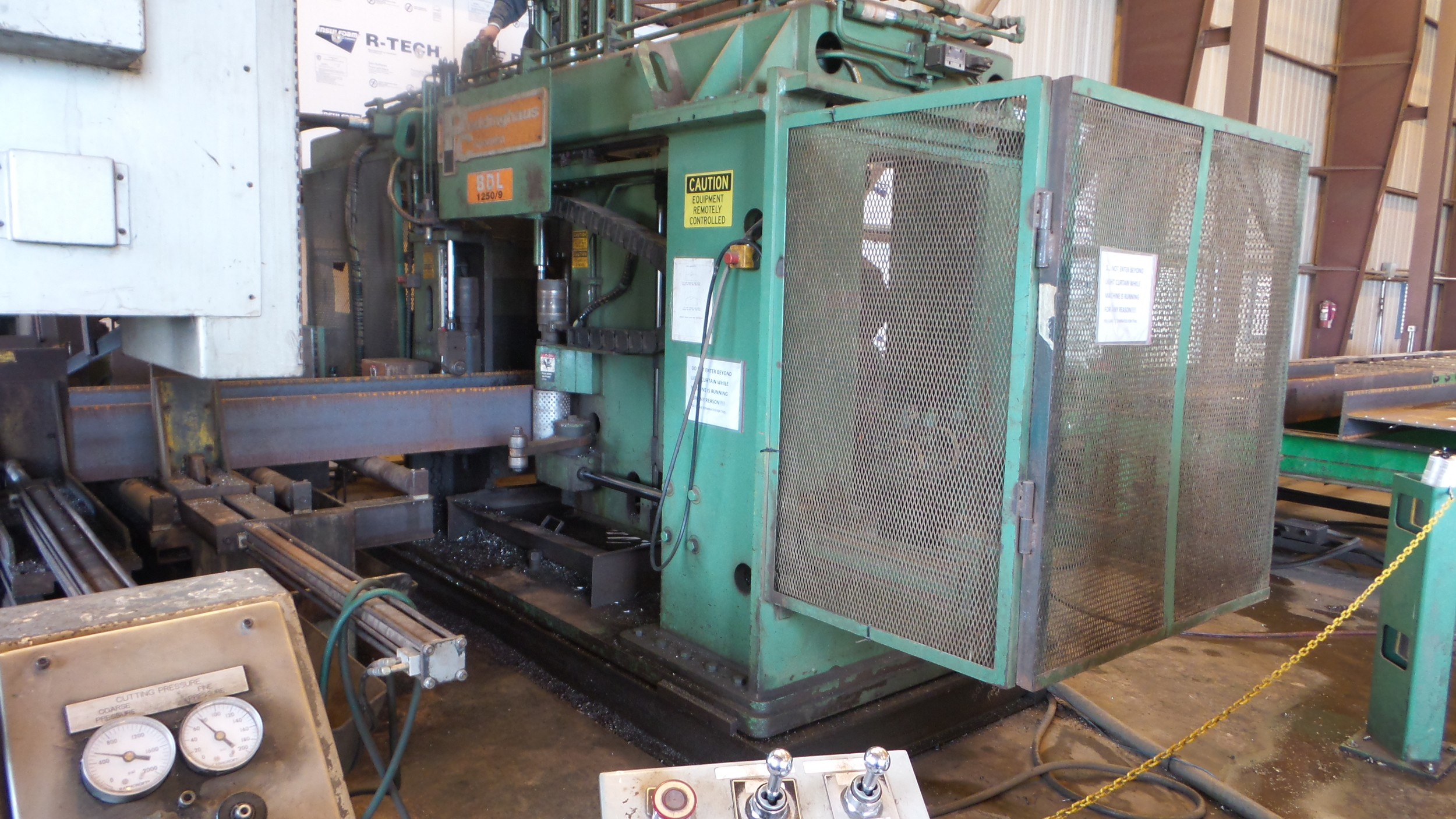 USED CNC Structural Steel Drill Line