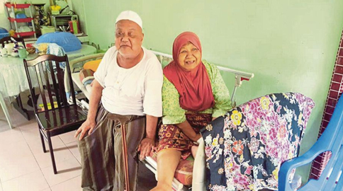 """Md Yasin and his wife, Alimah. """