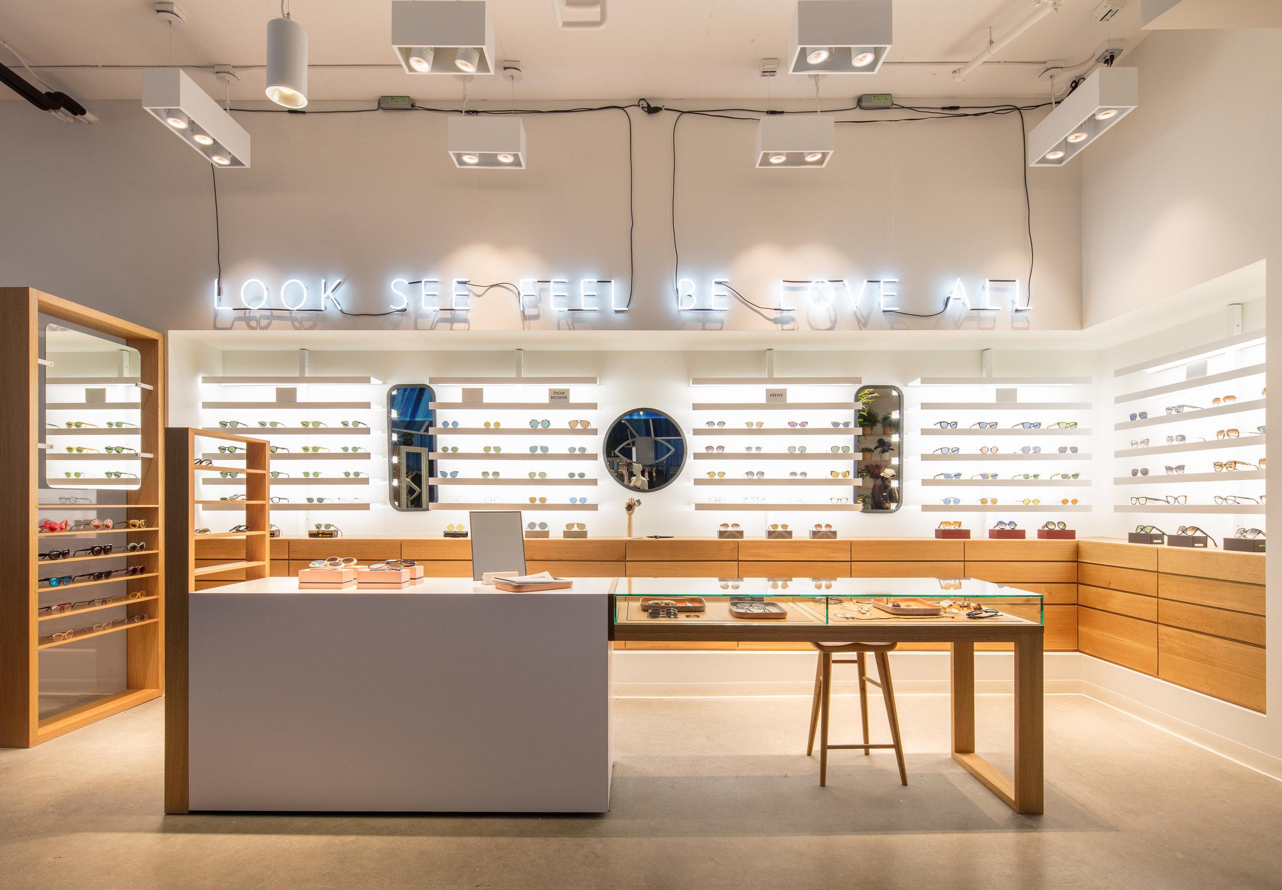 Eyewear shop at Fred Segal Sunset