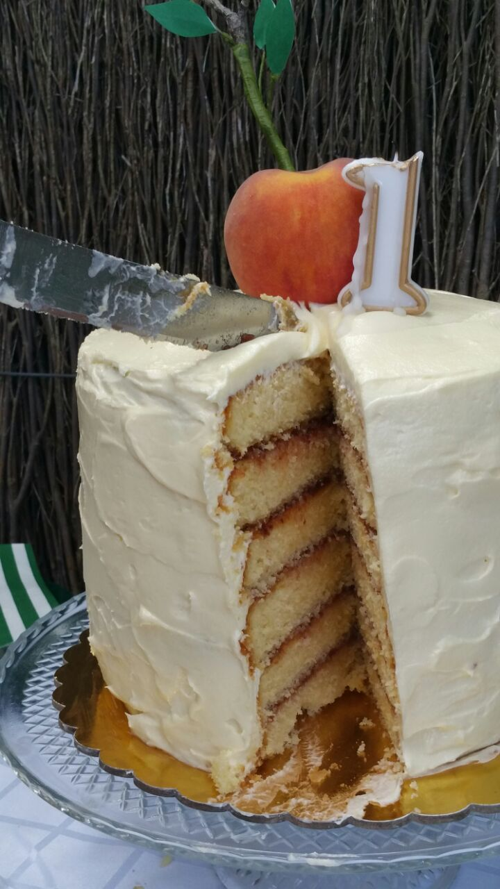 brown butter jam layer cake