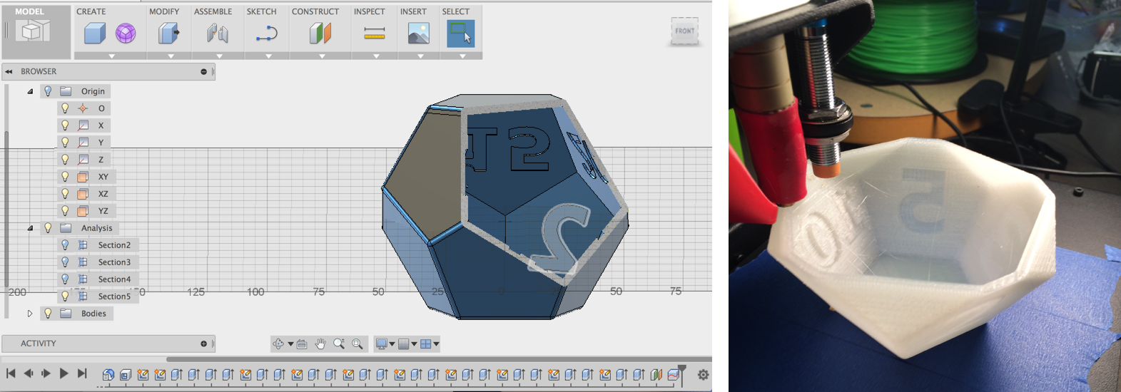 DodecaTimer: 3D Design and 3D Printing