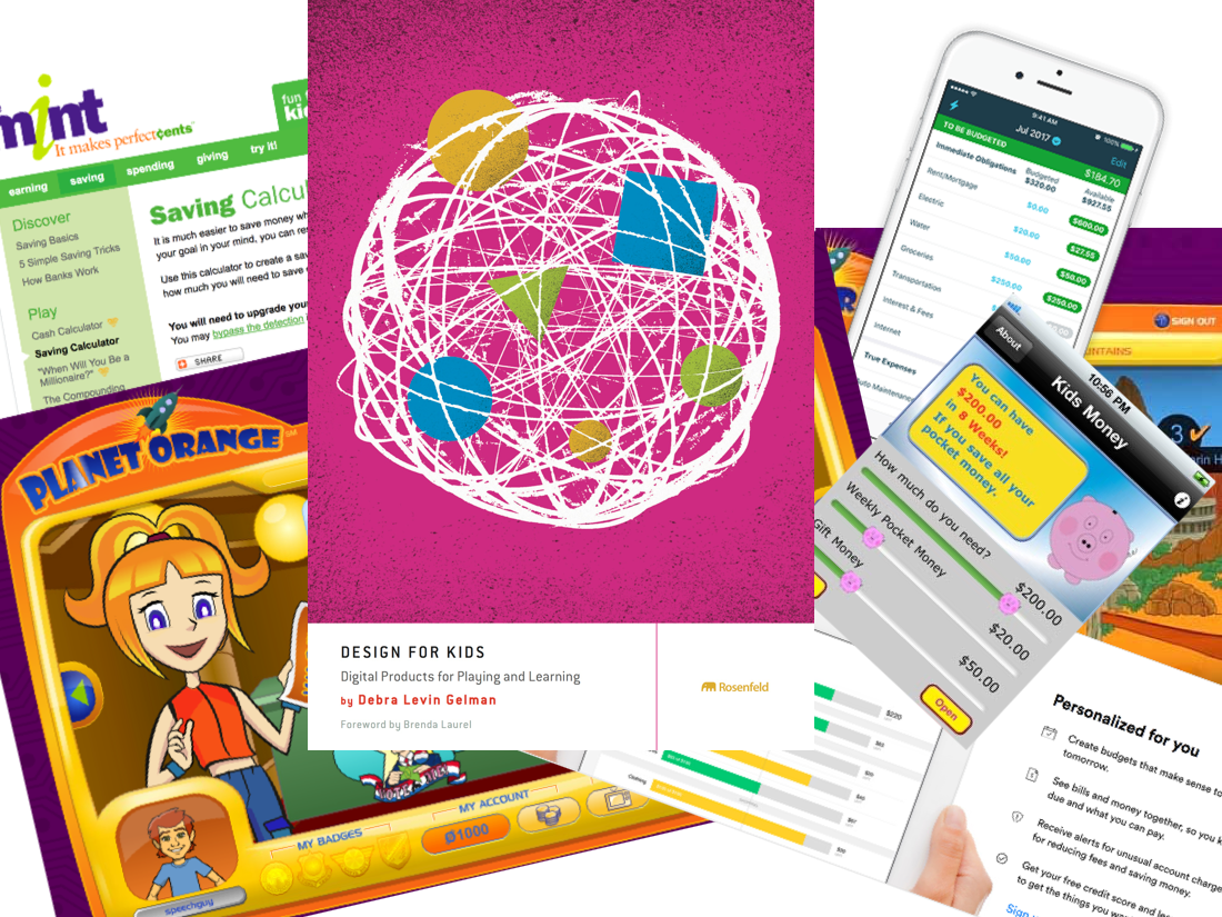 Some of my research sources: similar apps and literature on designing for children