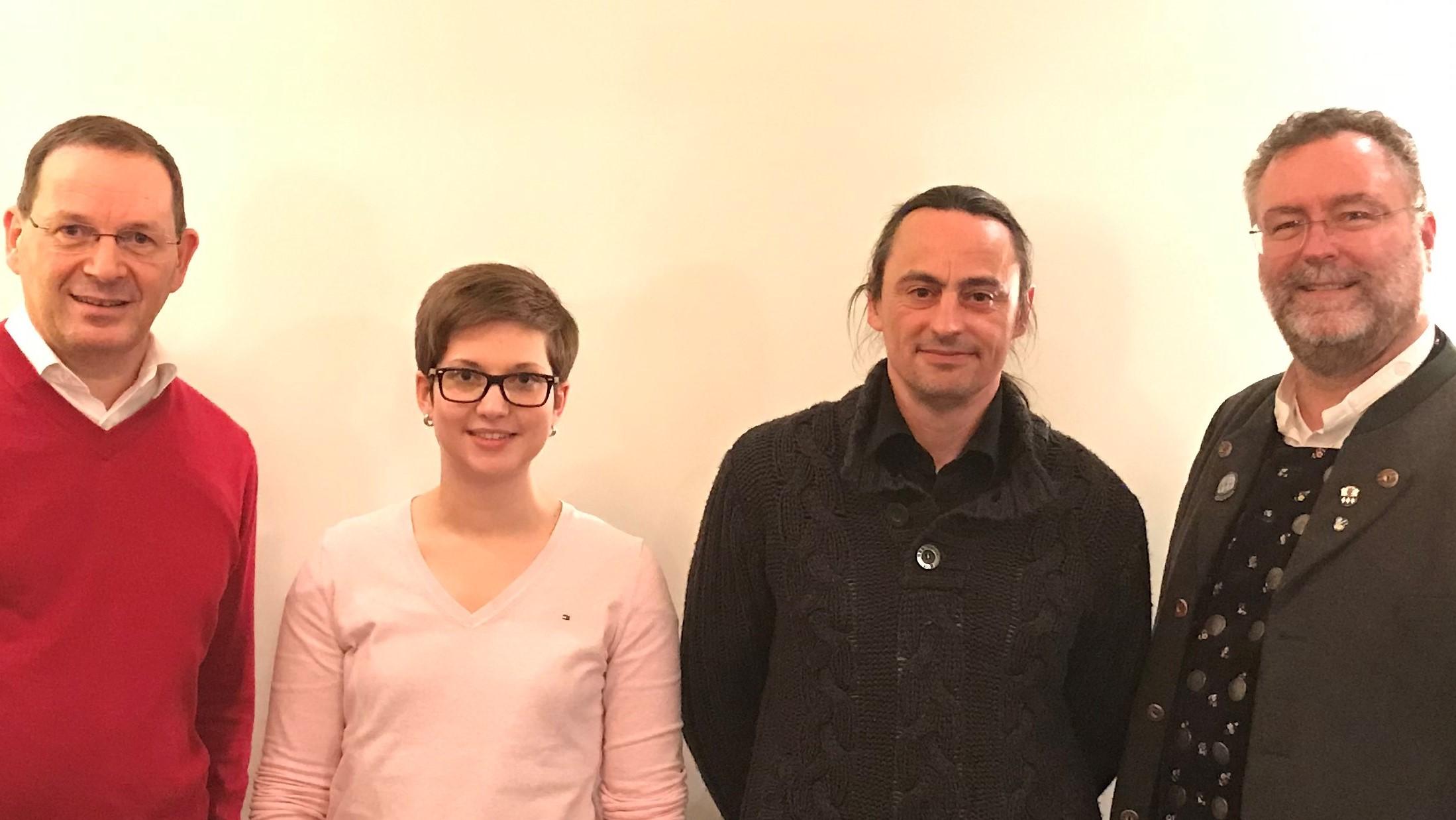 Vorstand des Ismaninger Sanitätsdienst Unterstützungsverein, Fried Saacke, Anja Brunner, Martin Waas und Präsident, Dr. Alexander Greulich.