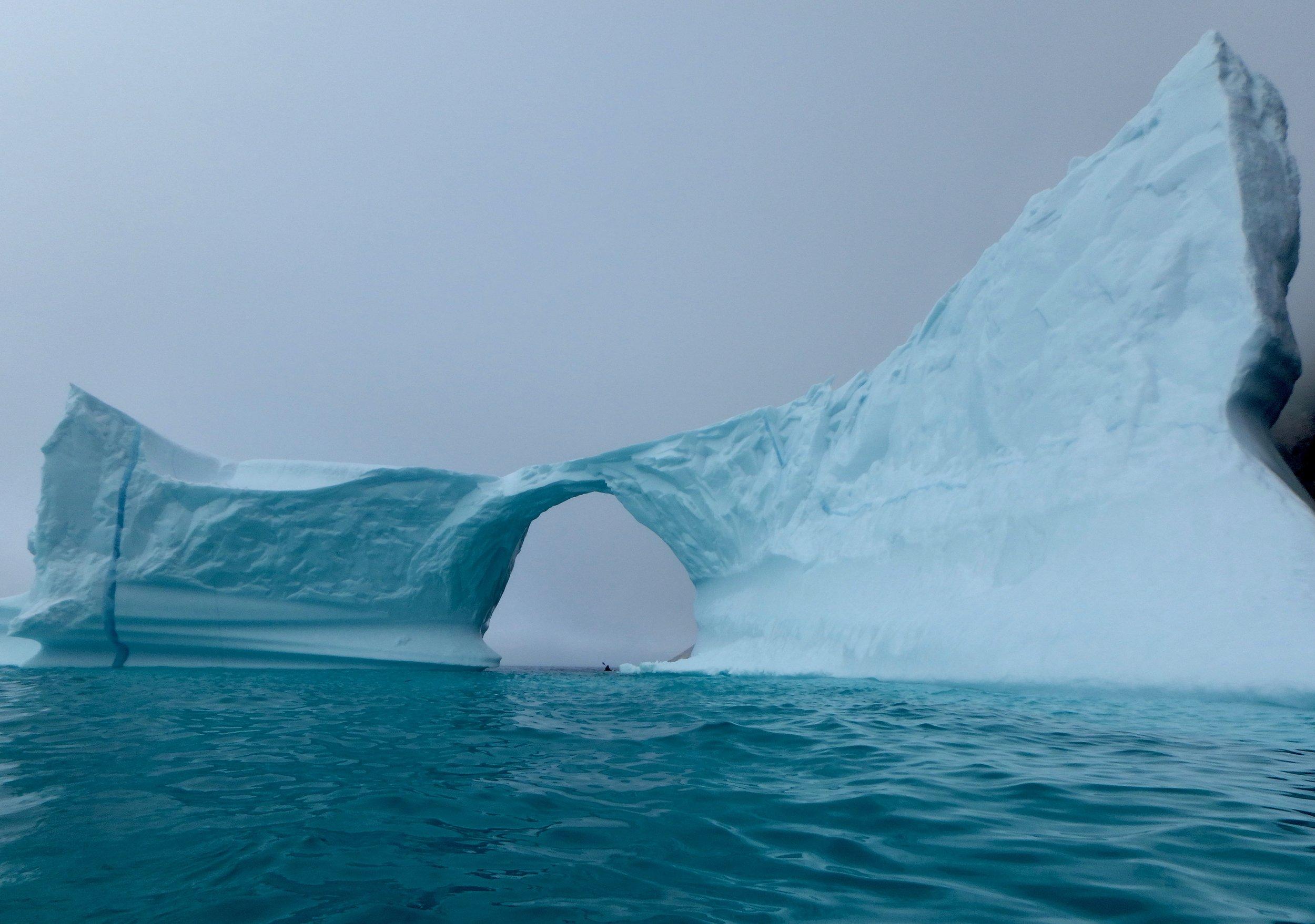 Iceberg & kayaker.