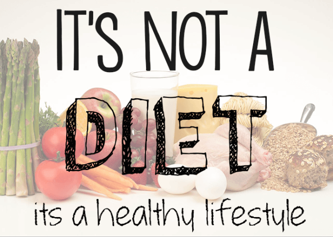 it is not a diet it is healthy lifestyle