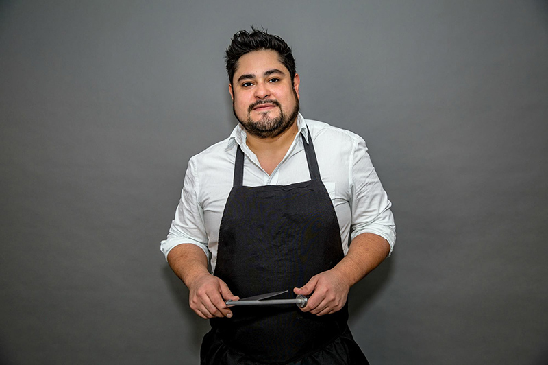 Oscar Diaz, executive chef of The Cortez Seafood + Cocktail, which opened last year at 413 Glenwood Avenue.