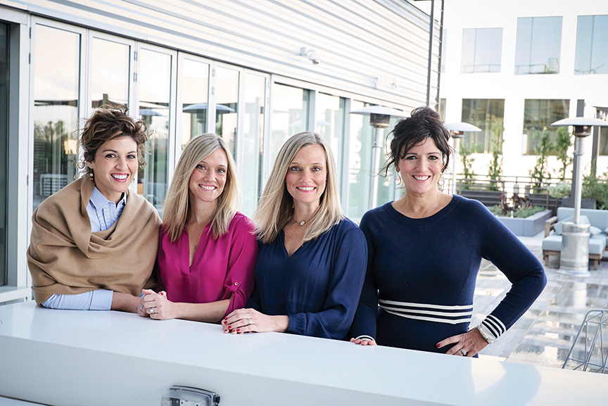 L to R: Annie Kentris Arthur–Chief Executive Officer, Amber Lear Nolan–Chief Recruiting Officer, Ashlee Lear Giannetti–Chief Operations Officer, Emily Kentris Music–Chief Communications Officer. (Photo courtesy of Juggle)