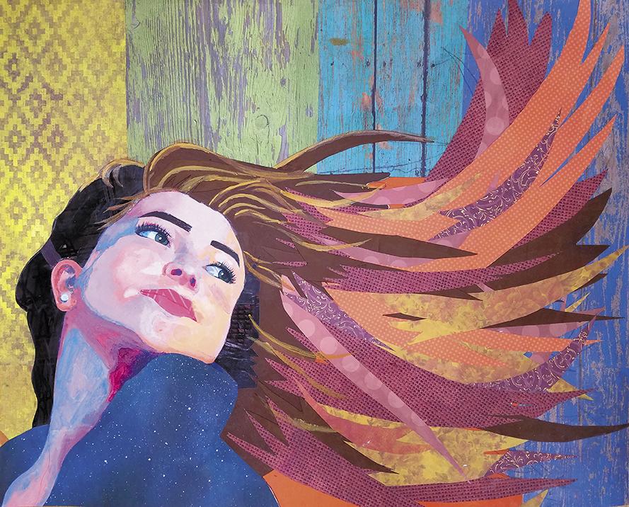 Mixed Media (Cut paper and Acrylic paint), 16x20, BY BRYANA HENN OF TRINITY ACADEMY