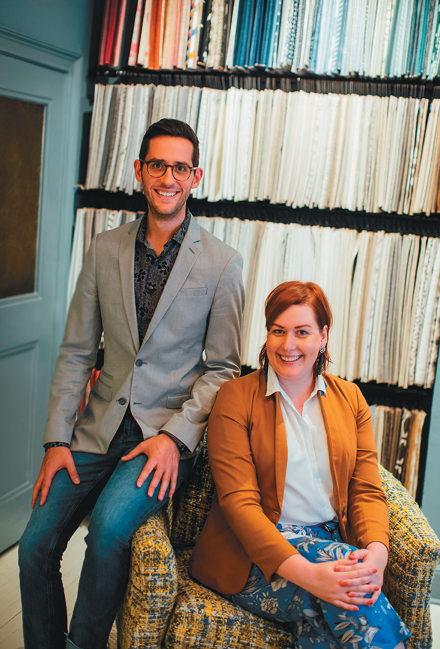Roux MacNeill Studio owners Robert MacNeill and Brittany Roux needed more space to accommodate their growing company and library of resources, including truckloads of fabric swatches and mood boards.