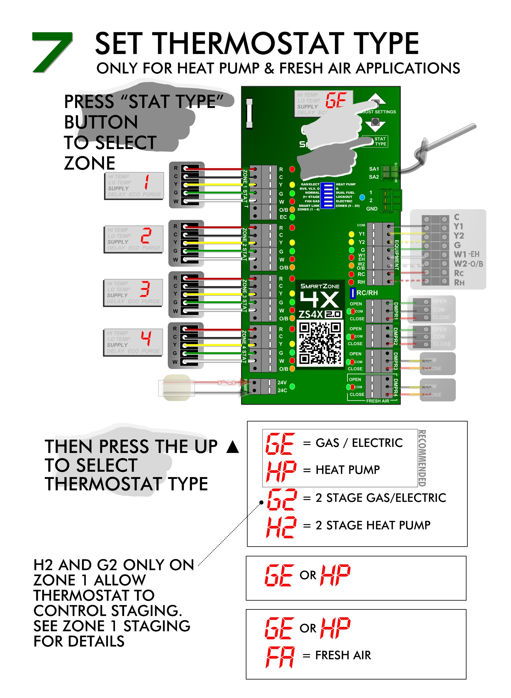 SmartZone Install - Thermostat Settings
