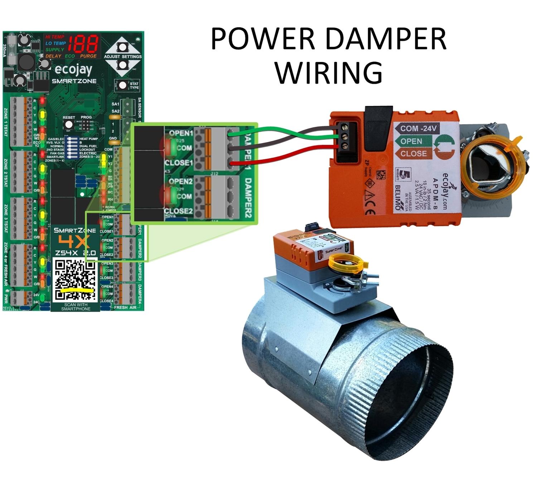ZoningSupply.com - Zone Control - PRO-Grade Power Zone Damper (Round) | Hvac Damper Wiring |  | Zone Control