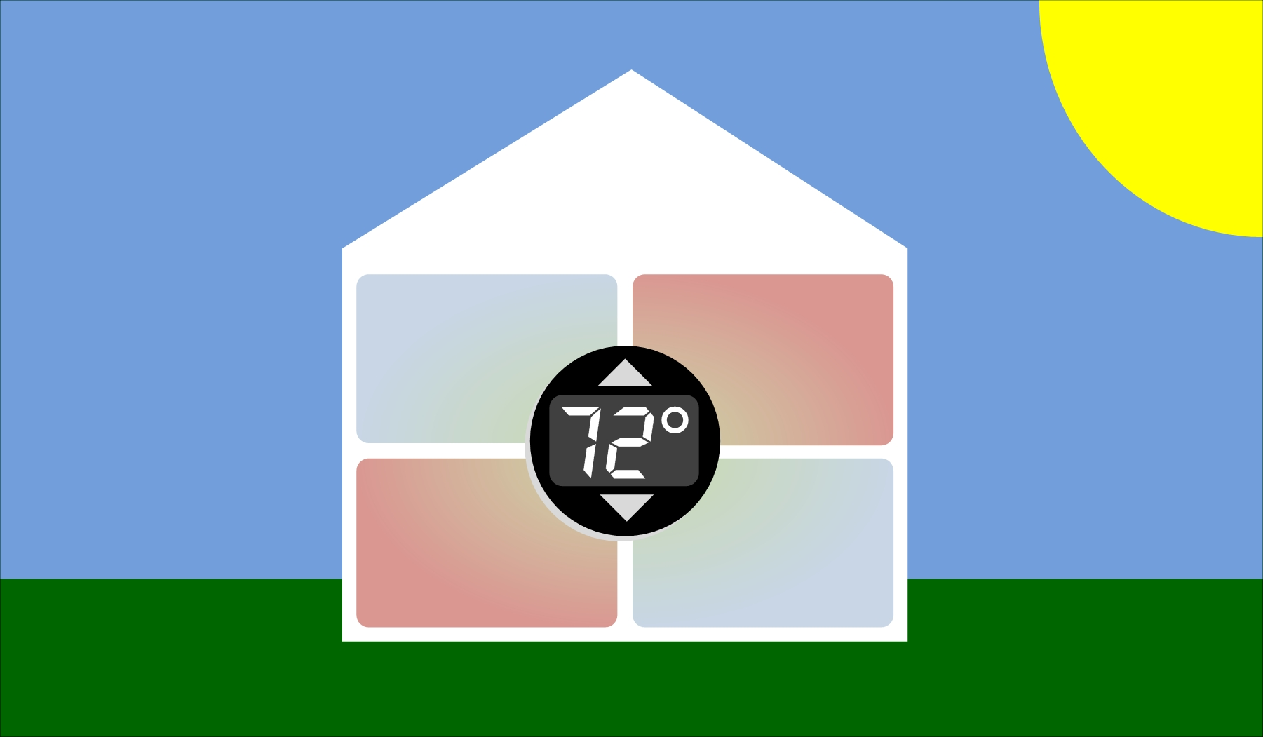 With only one thermostat, some areas of the house can get hot especially during the summer