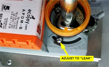"""Use set screw on ecojay motor to """"leak"""" air into NON-calling zones."""