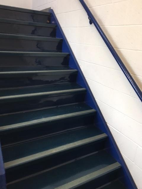 Bold Blue Staircase at RITA