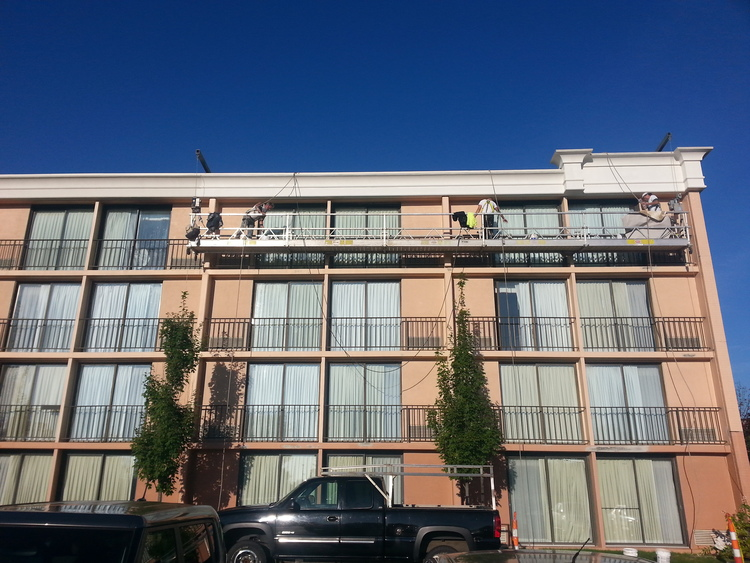 southwest companies exterior painting hotel