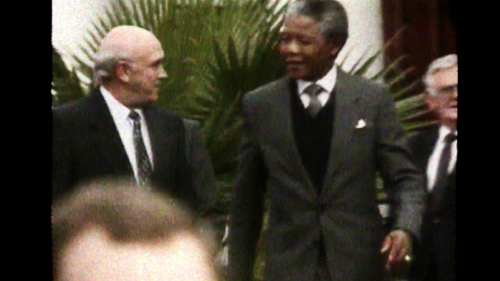 Mandela and de Klerk in 1993 after the Nobel Ceremony