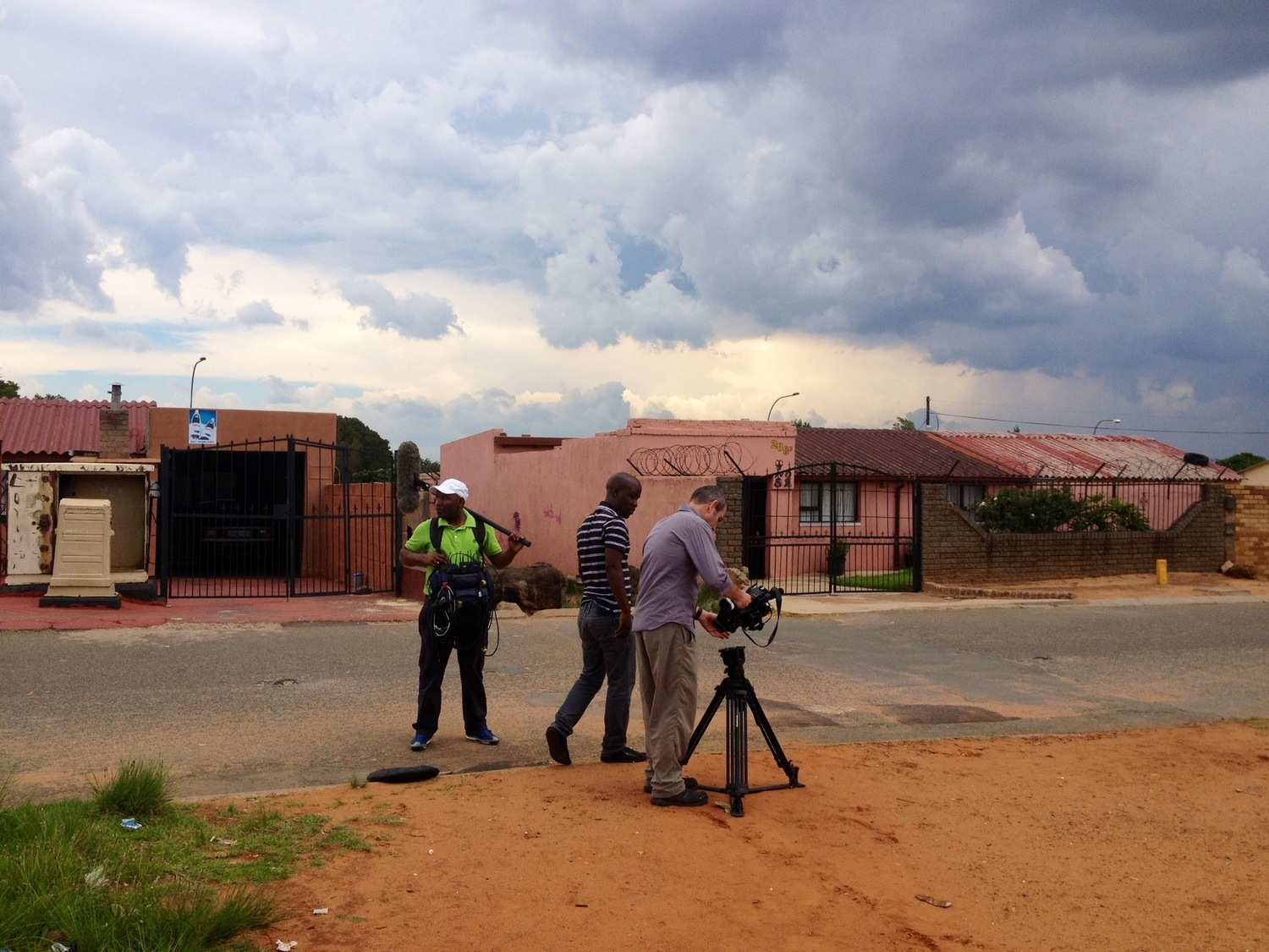 Crew filming in Soweto November 2012