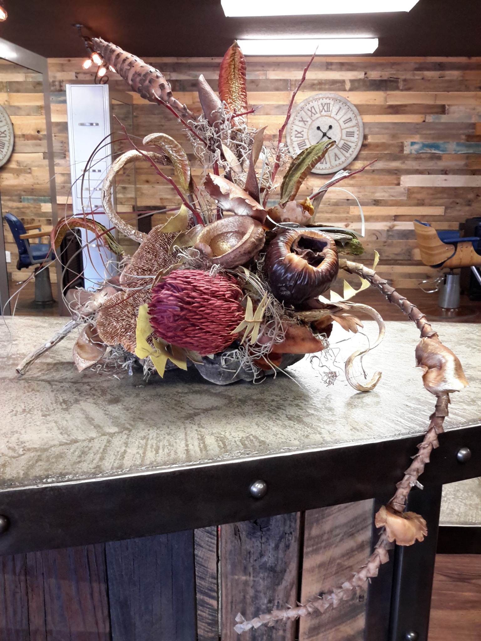 Floral design for Cranston and Co Grass Valley, Nevada County