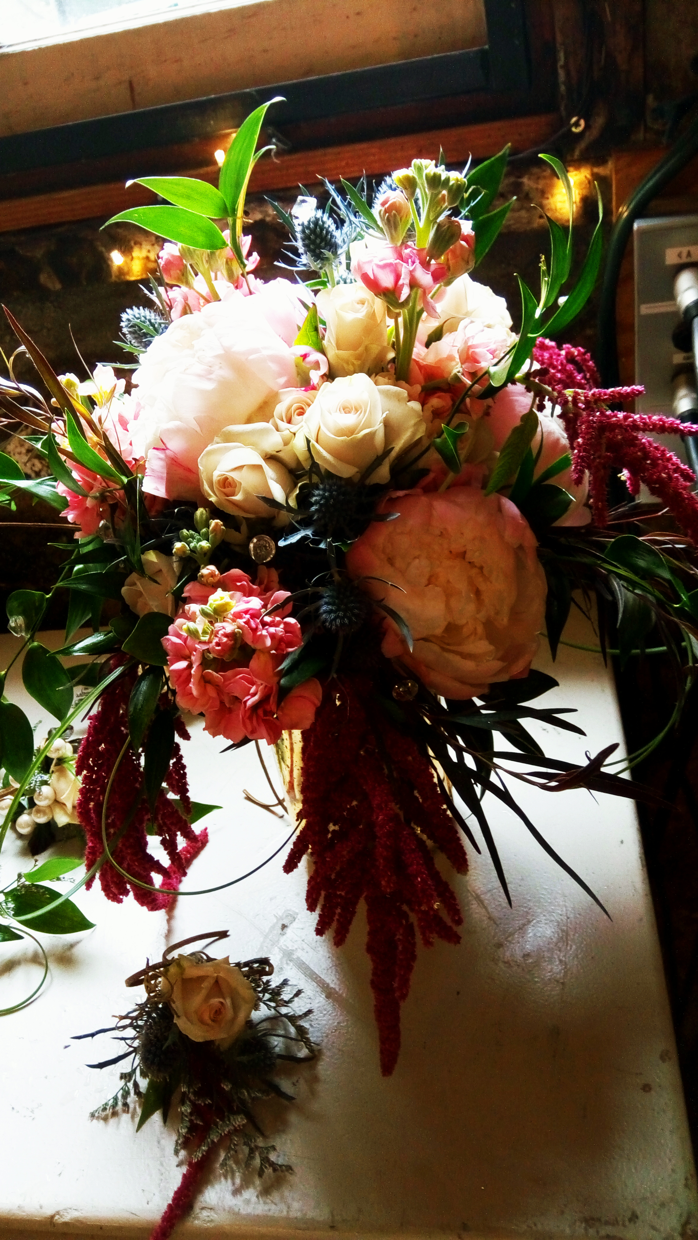 Wedding Floral Design Miners Foundry Nevada City, Nevada County