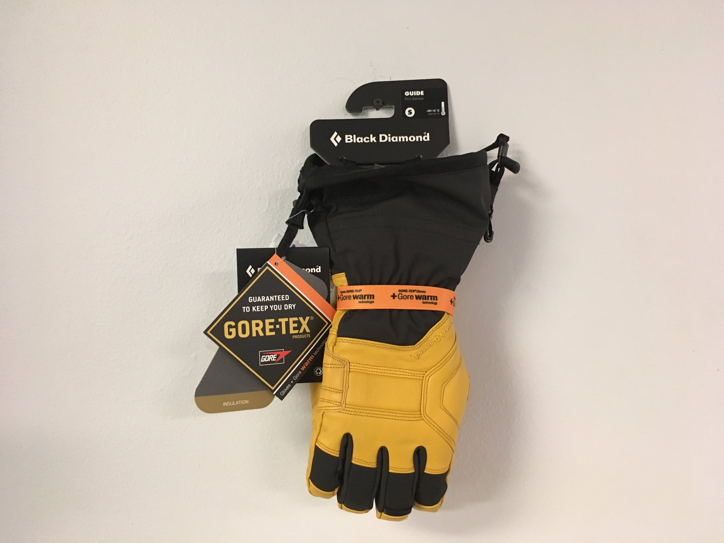 Get your Gore here! Keep those hands dry in this wet weather with BD's Guide Gore-Tex Glove. Retail is listed at $160 but we got you covered at $84. The size is a men's small.