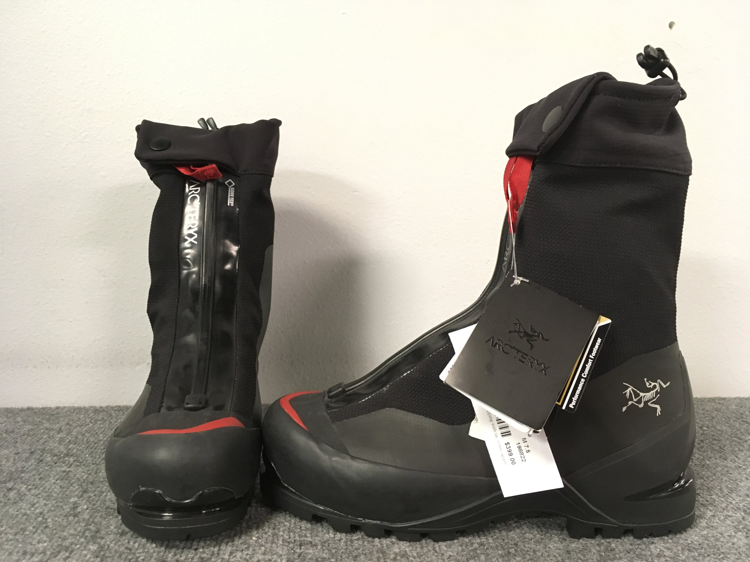 This boot is insane! The Arcteryx Acrux AR is designed to conquer any terrain you throw at it be it ice, rock scrambles, or mixed climbing. Retail is listed at $750 but we have it priced at $399! The size is a 7.5.