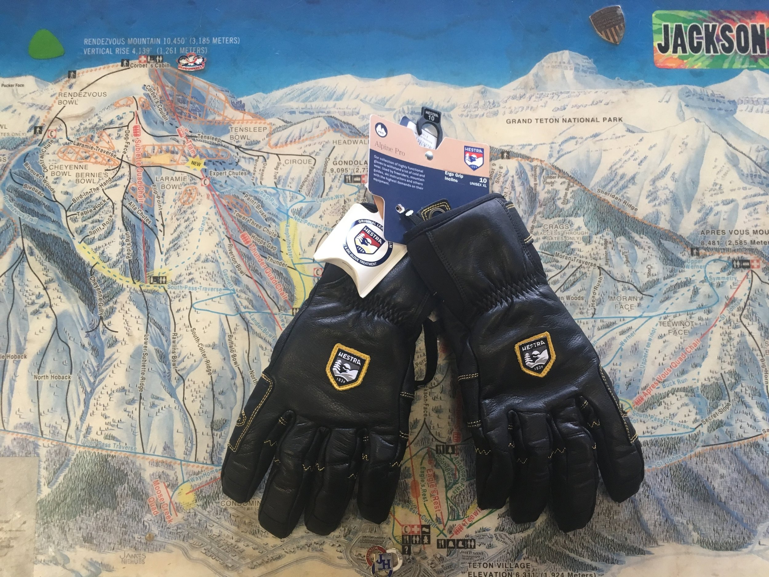 Do you ask a lot out of your gloves? Hestra's Alpine Pro Ergo Grip will you supply you with all the answers! Built with Military Grade leather this glove is bomb proof. Retail for the pair is listed at $150 but we got you covered for $70! The size is XL
