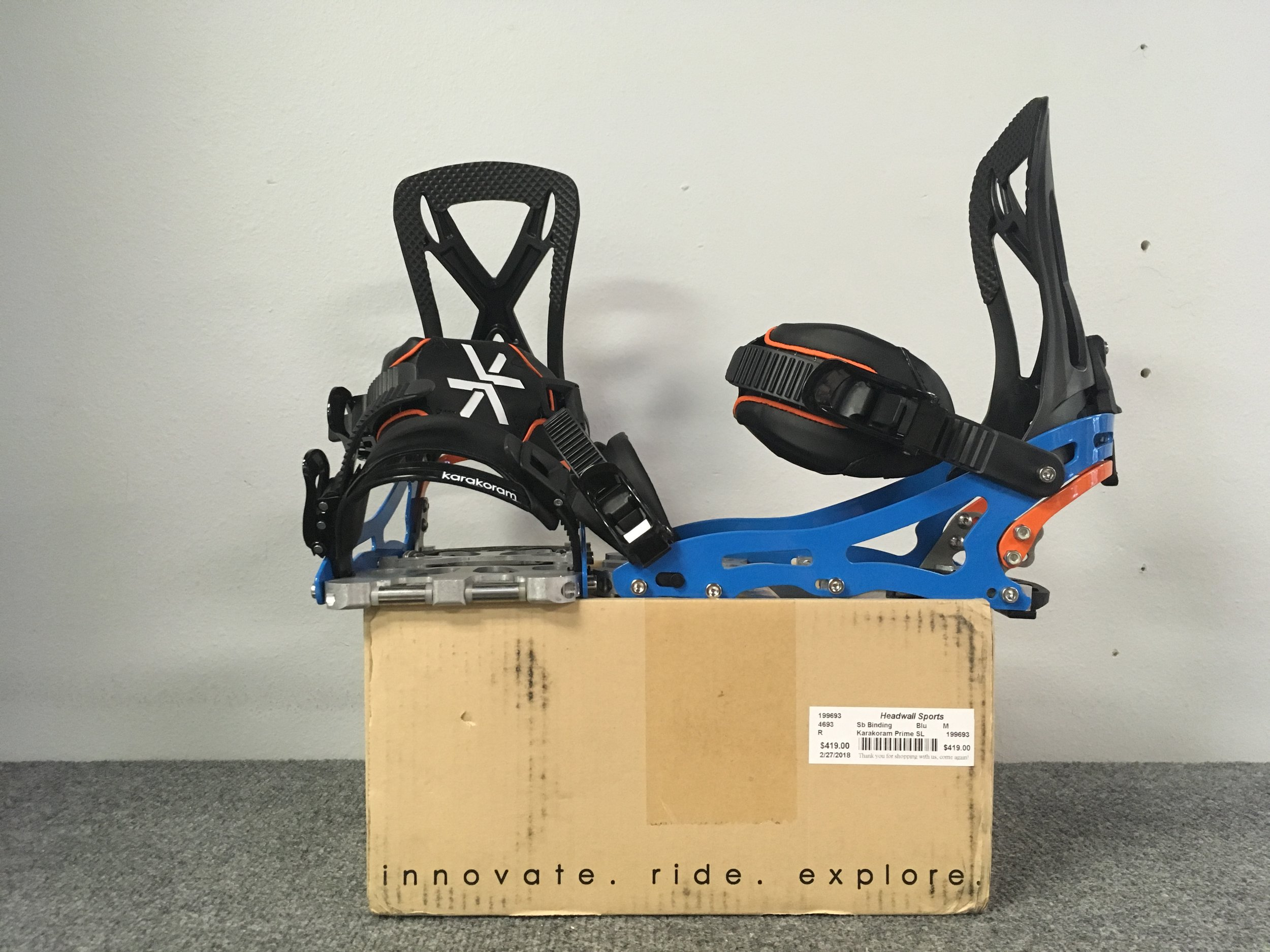 Karakoram's Prime SL are arguably some of the best splitboard bindings on the market. By combining lightweight construction and sold downhill performance the Prime SL has been the go-to for backcountry users. Suggested retail is listed at $750 but we can get you out there for $419! The size is a medium.
