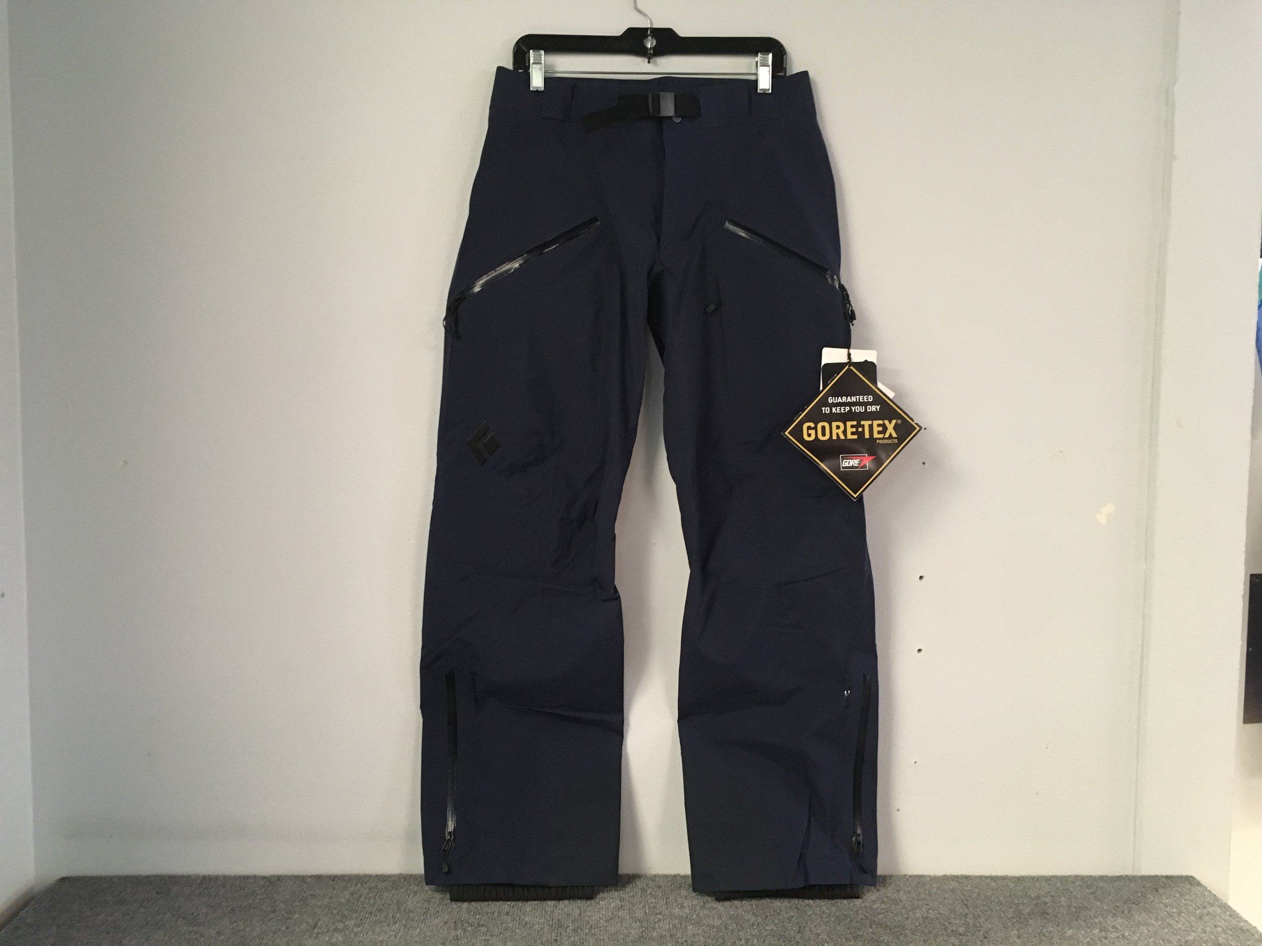 If you're travelling in the backcountry you need the Mission pants from Black Diamond! The Mission's feature Gore-Tex fabric, full zip vents, and a built in beacon harness. Retail is listed at $450 but we got you covered at $229. The size is a women's medium.