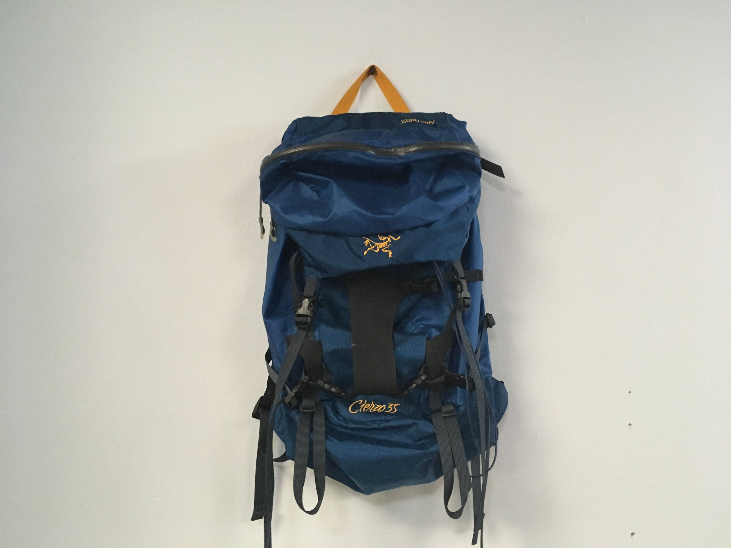 If you're looking for a super simple, lightweight climbing pack the Arcteryx Cierzo 35 is for you. Weighing in at 20oz and a max capacity of 40L the Cierzo is perfect for an overnight climbing mission any season. Retail for the bag is listed around $160 but we got you covered for the $79!