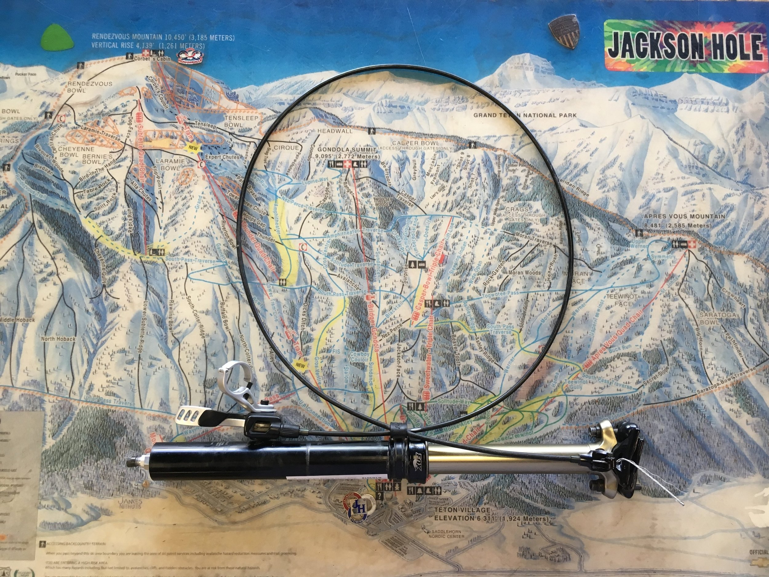 Like going up and down? Here's the Fox D.O.S.S dropper post for ya. Featuring 5in/125mm of travel you'll be able conquer anything the trail throws at you. Retail for the dropper post is around $400 but we can get you riding for $149! The diameter is 30.9.