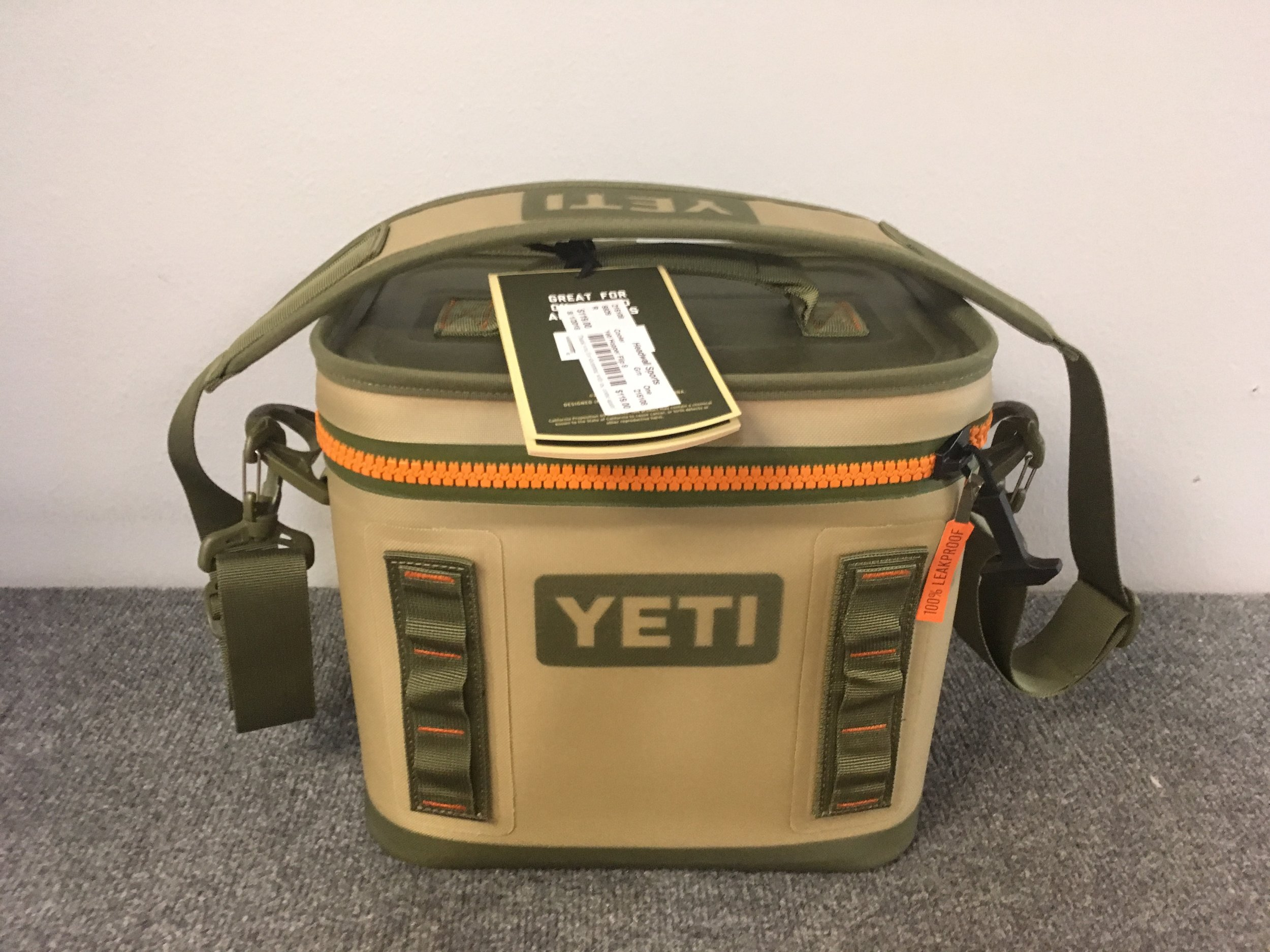 Keep your cans cold and safe with Yeti's Hopper Flip cooler. The Hopper is guaranteed leak-proof and is built with a Dryhide shell that resists mildew and punctures. Retail for the cooler is listed at $200 but we got you covered at $119!