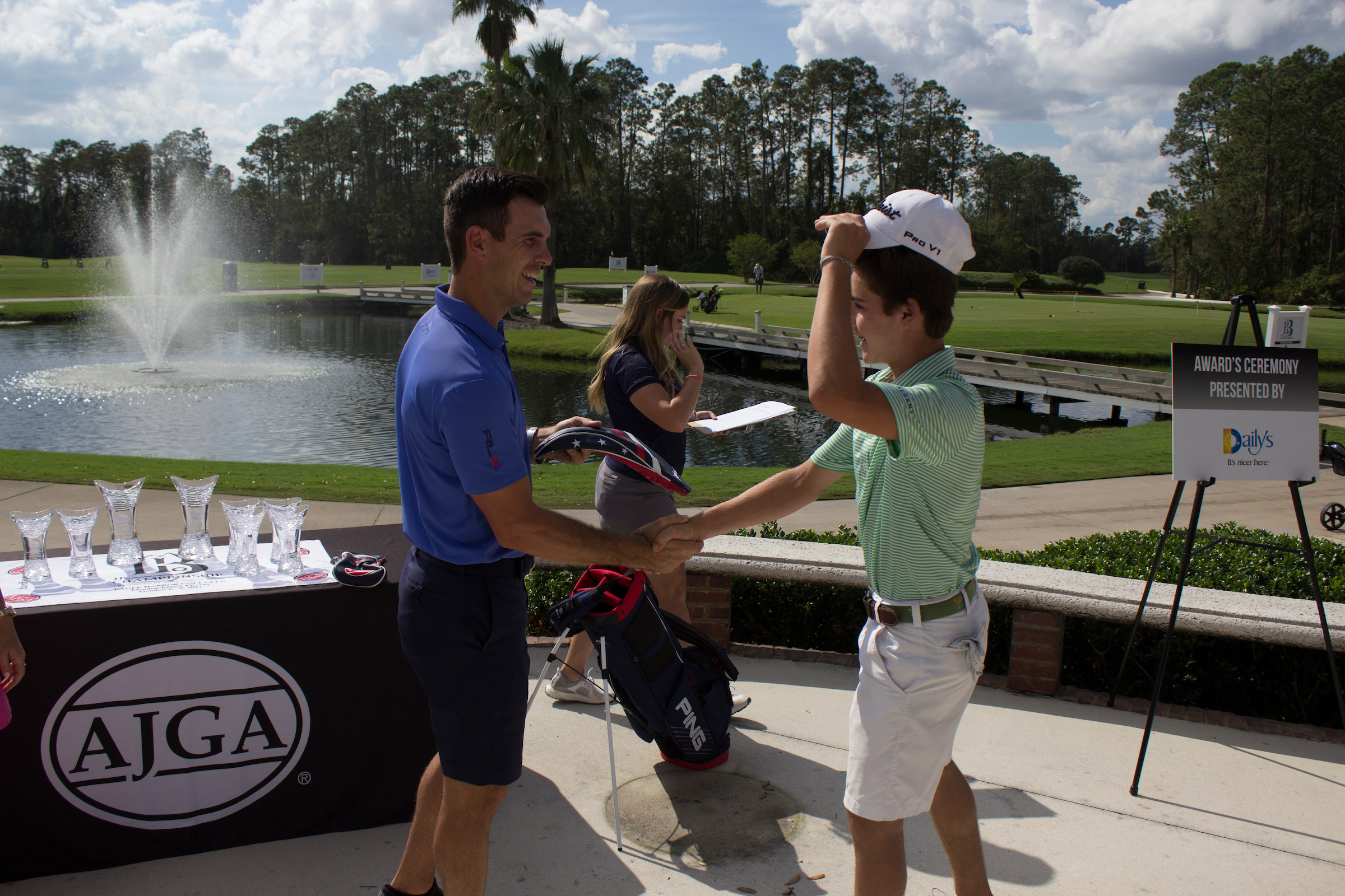 Billy and Brittany Horschel handshake - 2017 - Billy Horschel Junior.jpg