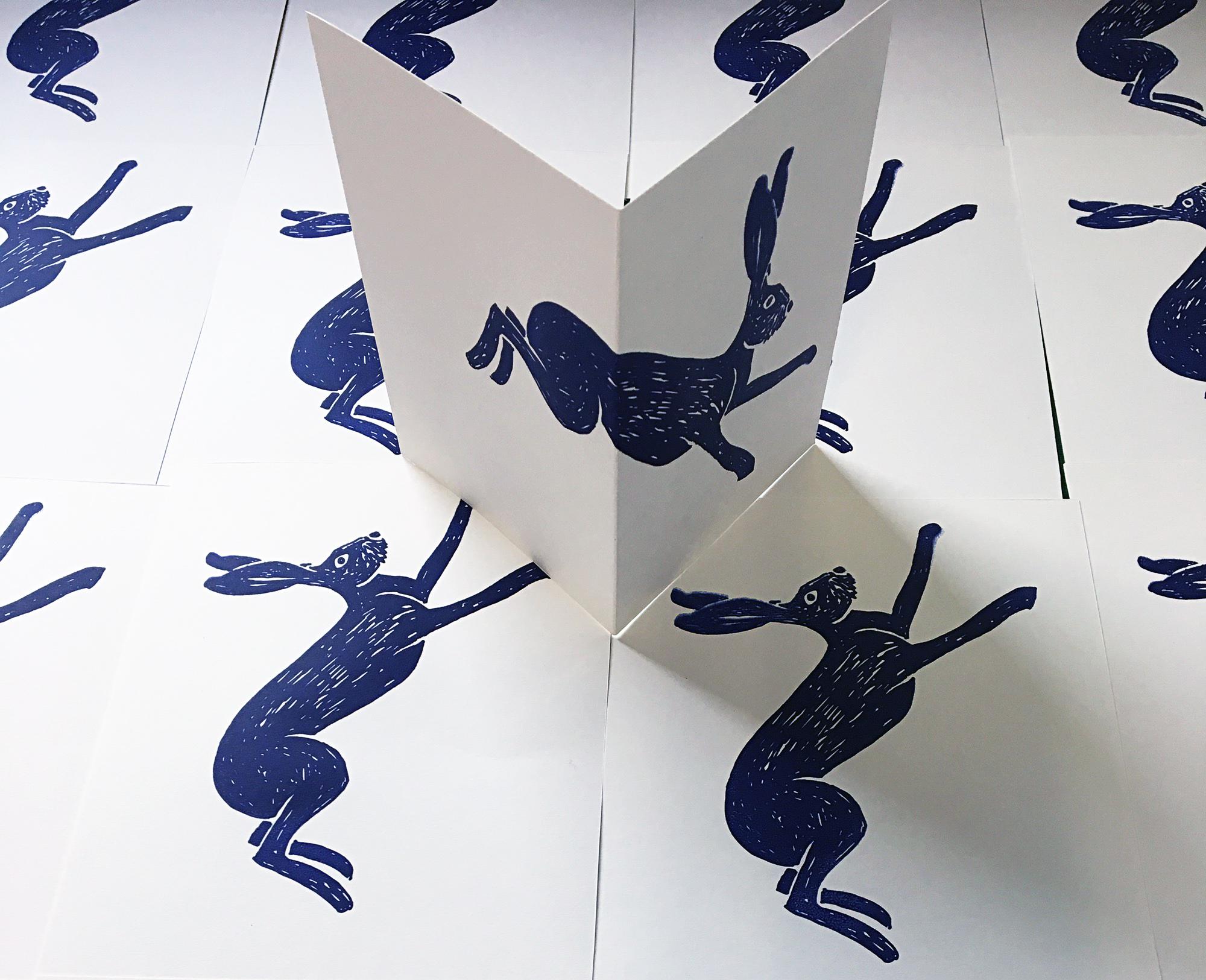 Jane Bain_Hare card_silkscreen print.jpg