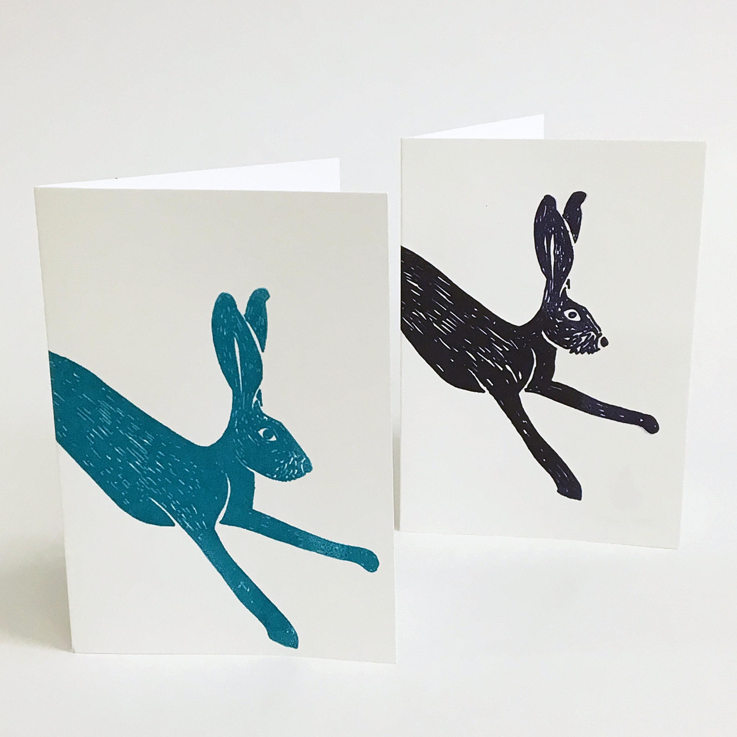 Jane Bain_Hare cards_2_silkscreen print.jpg