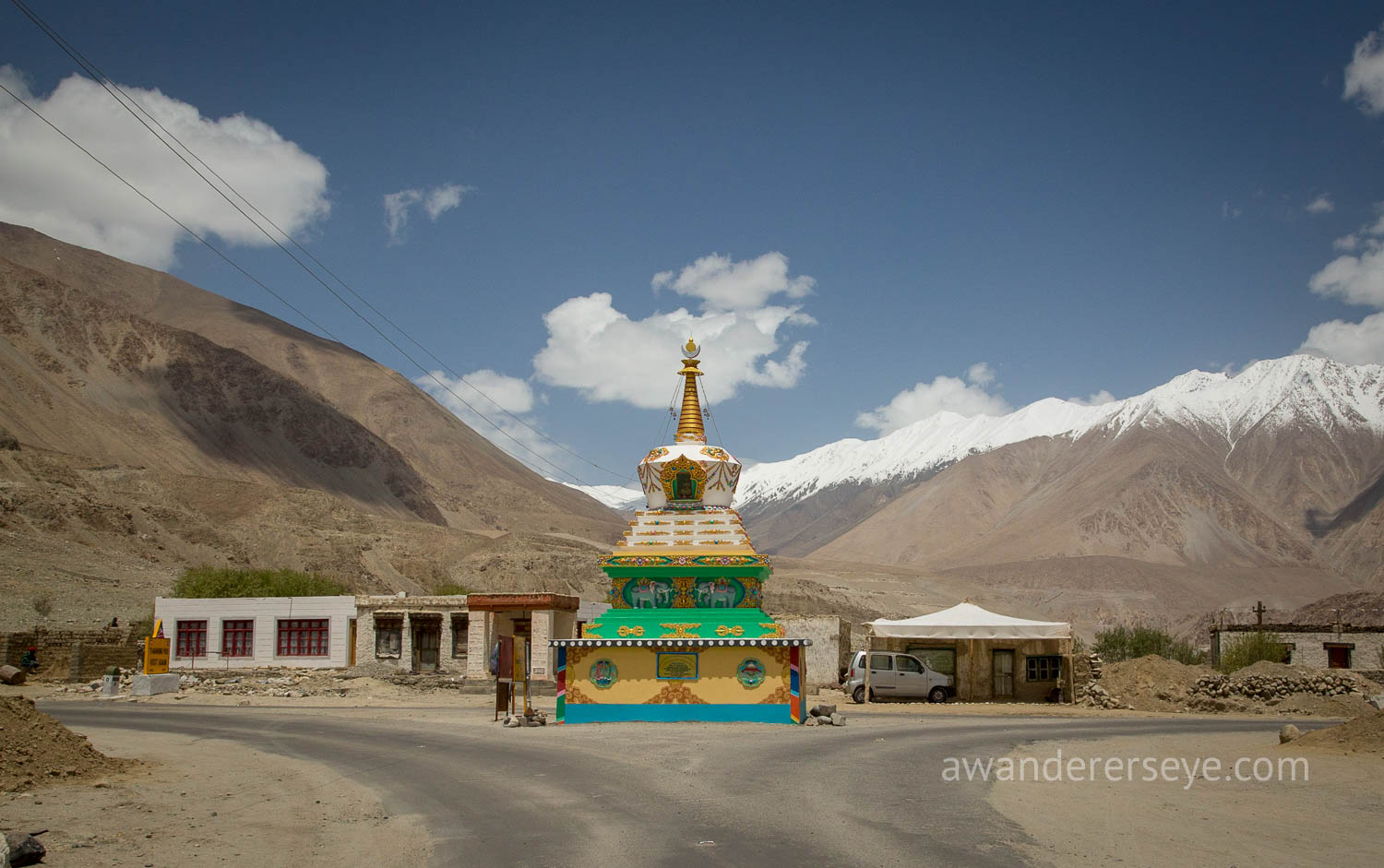 A roadside Stupa in the mountains of Ladakh.